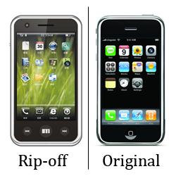 Meizu M8 / Apple iPhone