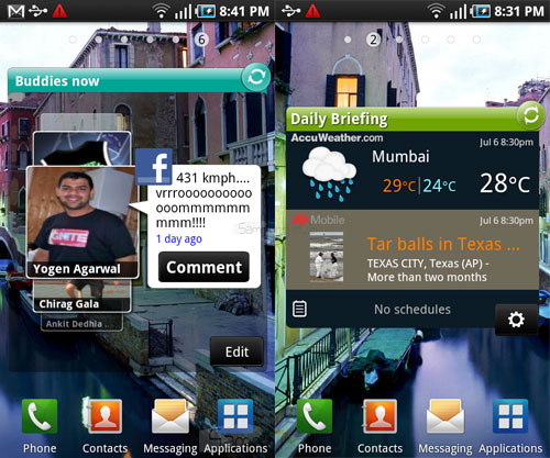 Samsung Galaxy S widgets