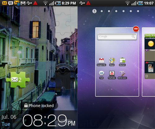 Samsung Galaxy S User Interface