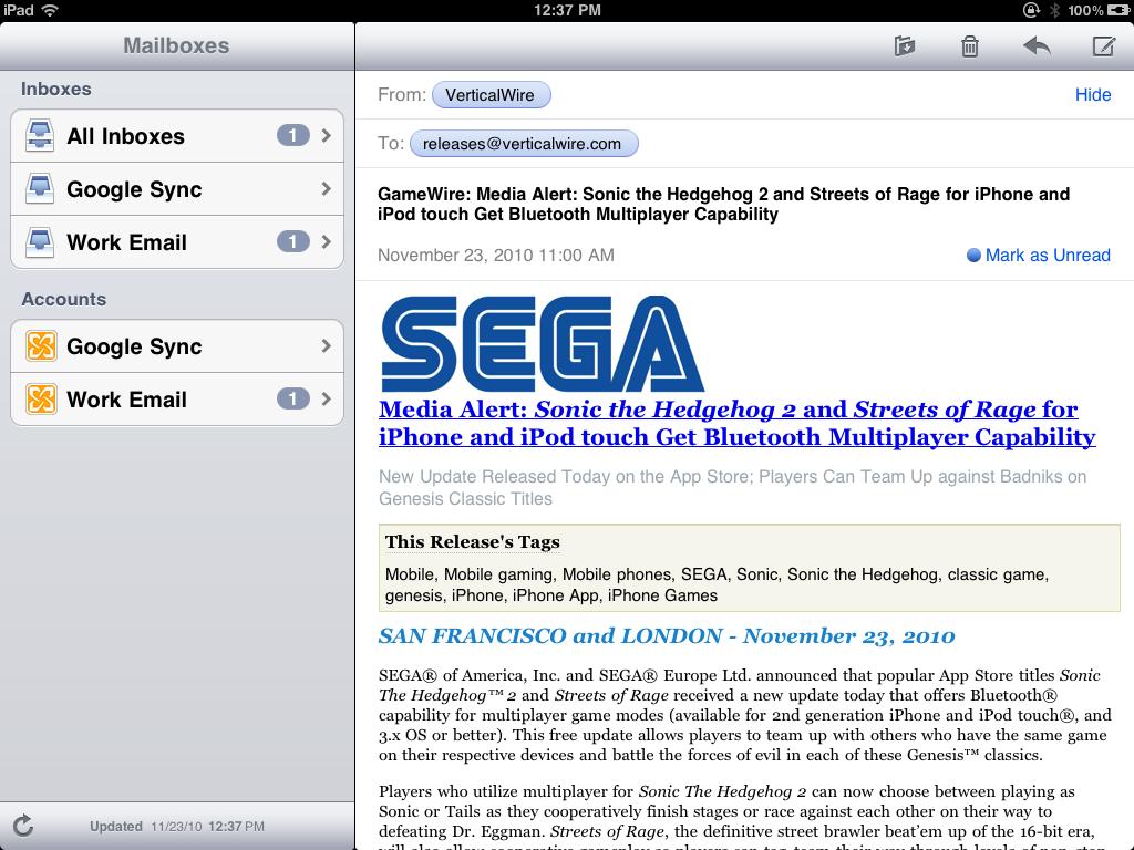 iOS 4.2 Inbox