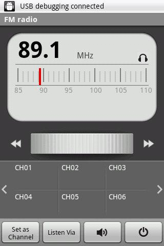 LG Optimus One FM Radio