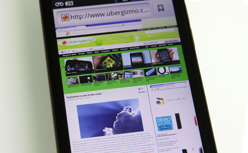 lg optimus 2x browser