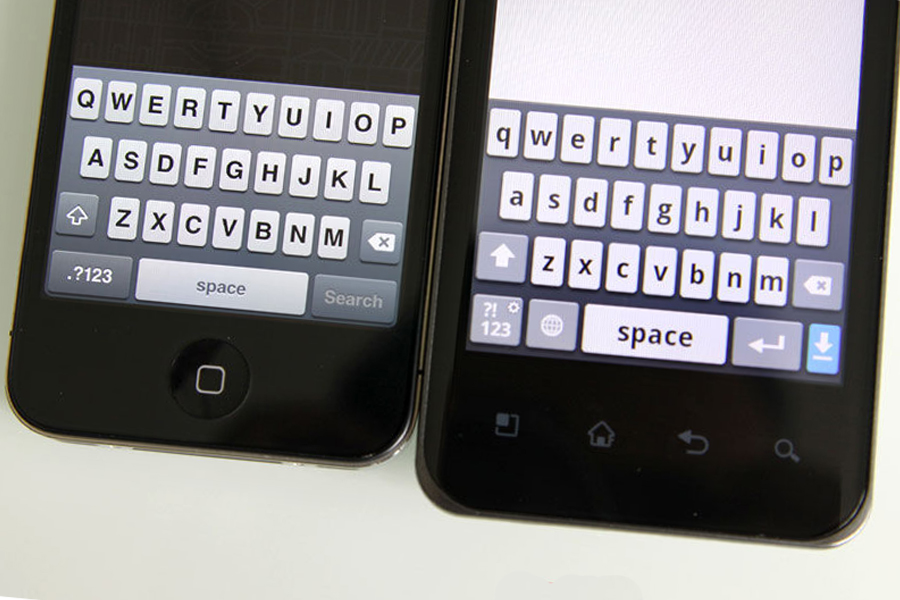 LG Optimus 2X keyboard