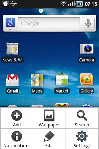 Samsung Galaxy Ace UI