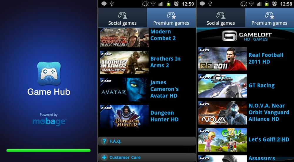 Games Hub Samsung GalaxyS II