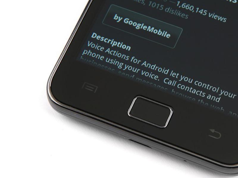 кнопки Samsung Galaxy S II