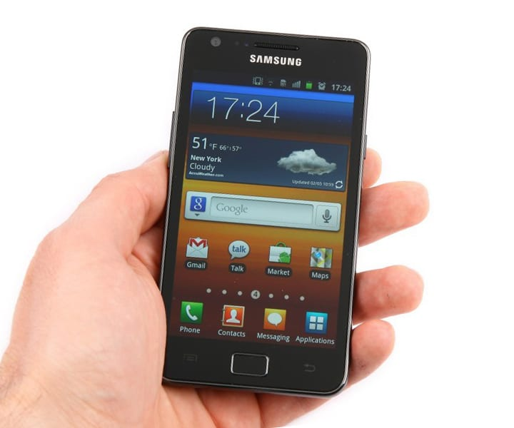 дизайн Samsung Galaxy S II