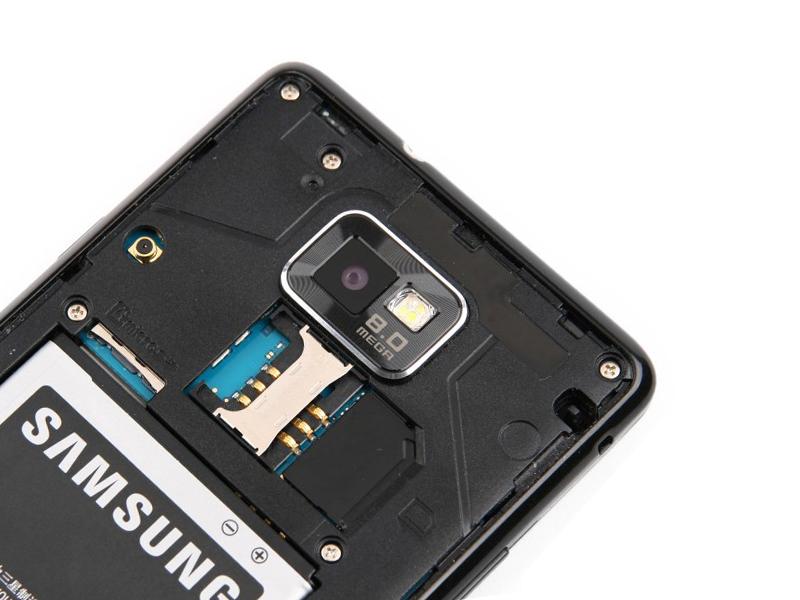 Samsung Galaxy S II без задней крышки