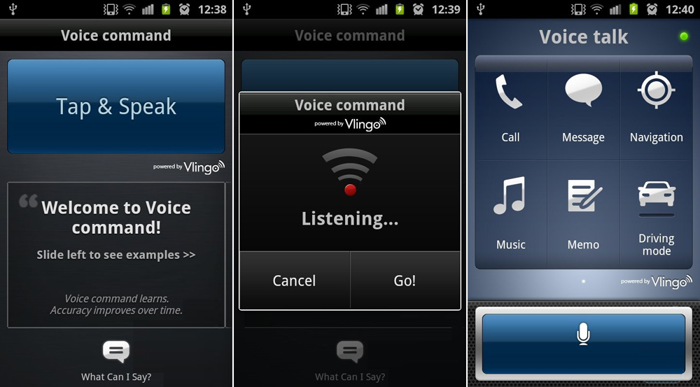 Samsung Galaxy S II Voice talk