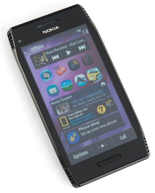 Дизайн Nokia X7