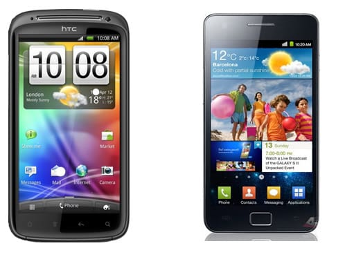 HTC Sensation vs Samsung Galaxy S II