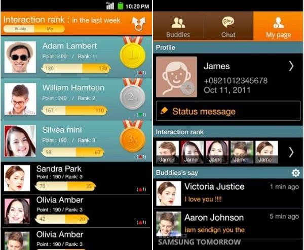 ChatON сервис обмена сообщениями