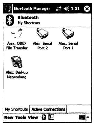Внешний вид окна утилиты Bluetooth Manager