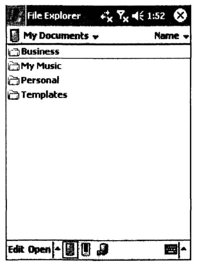 Окно программы File Explorer