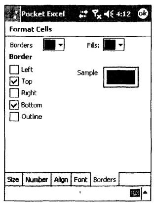 Внешний вид окна Format Cells