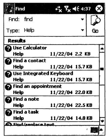 Пример внешнего вида программы Find
