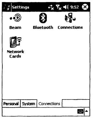 Вкладка настройки сетевых подключений