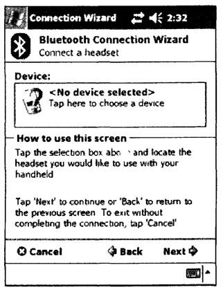 Внешний вид окна выбора устройства