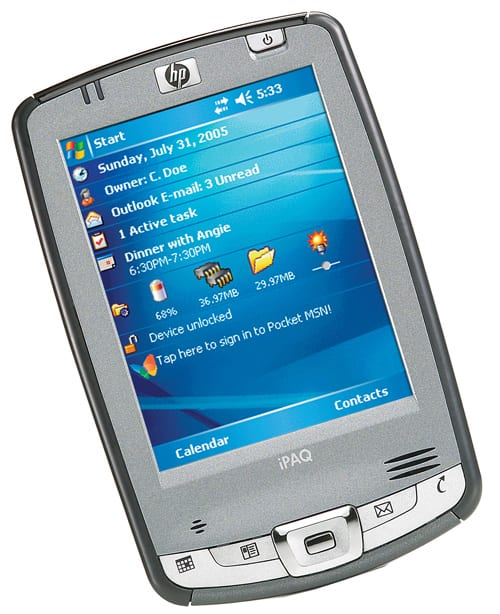 Объем памяти Pocket PC