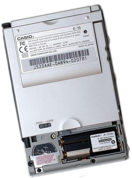 батарейный отсек КПК Pocket Viewer корпорации Casio