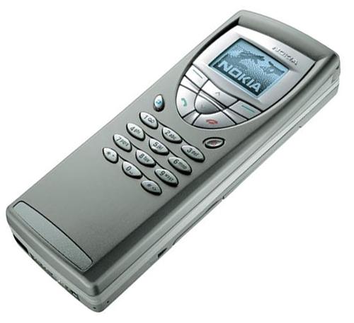 Вид на телефонную часть коммуникатора Nokia