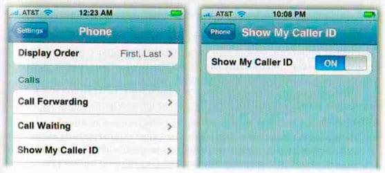 Caller ID (Определение номера)
