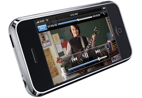 Управление просмотром видео на iPhone