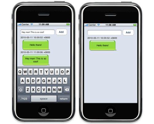 Отправка нового сообщения на iPhone