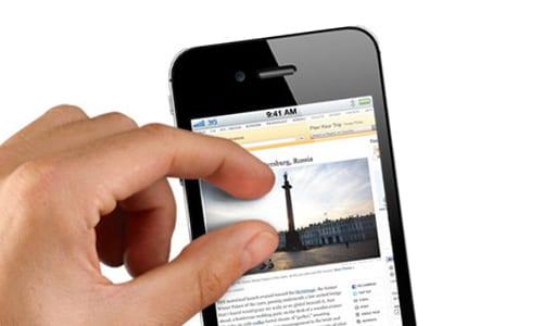 Увеличение веб-страниц на iPhone