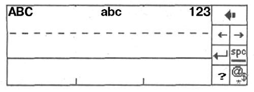 Панель ввода Распознавателя букв