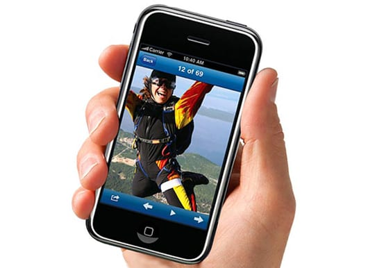 Экран просмотра фотографии на iPhone