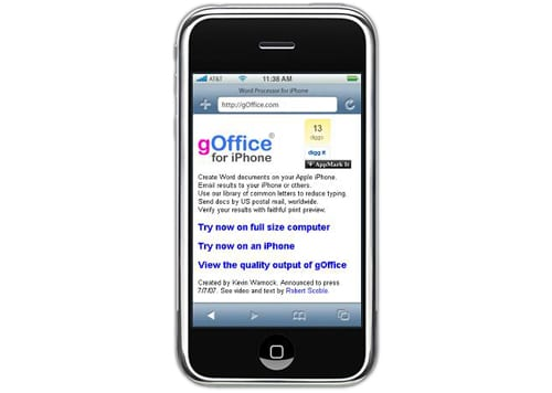 gOffice for iPhone