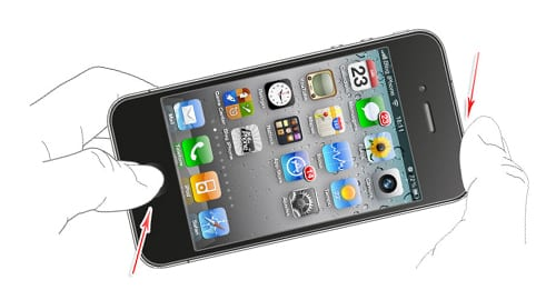 Как сделать скрин телефона айфон