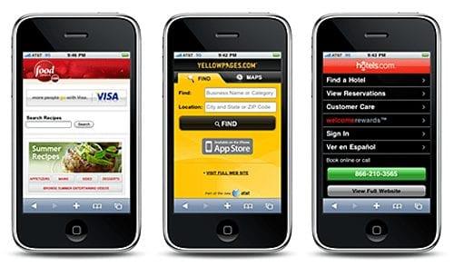 Мобильные помощники крупных сайтов
