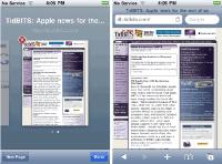 Управление несколькими страницами в Safari