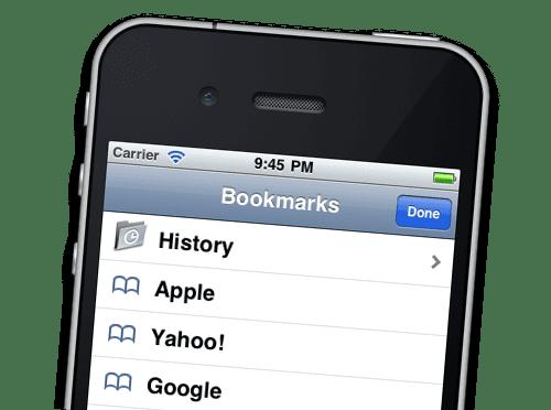 Bookmarks (Закладки) в Safari