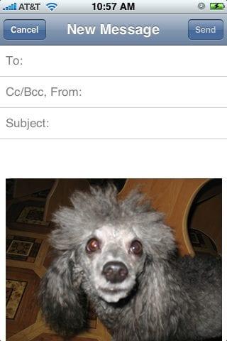Пересылка фотографий по электронной почте
