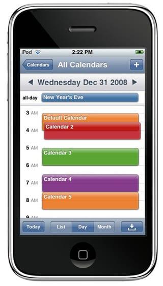 Концепция календаря iPhone