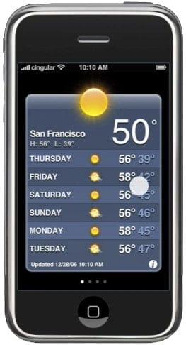 Weather (Погода) на iPhone