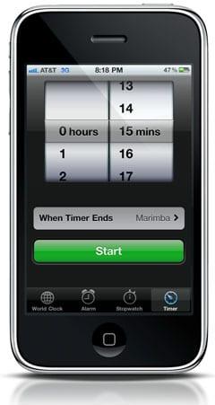 Timer (Таймер) на iPhone