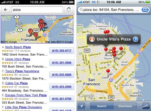 Поиск по карте на iPhone