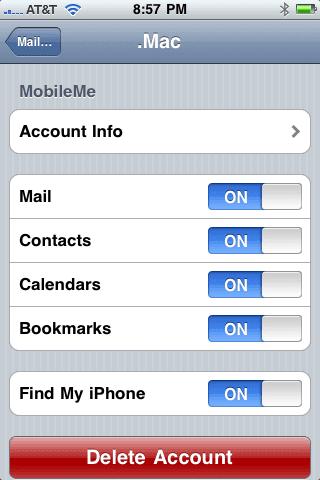 Улучшения MobileMe