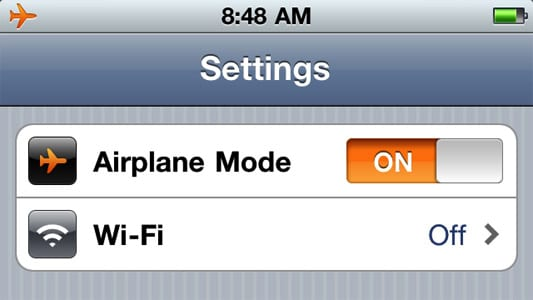 Airplane Mode (Режим самолета)