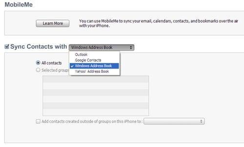 Синхронизация контактов на iPhone