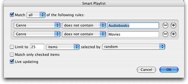 smart playlist (умный плейлист)