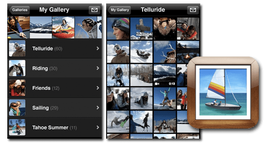 Онлайн-галерея MobileMe