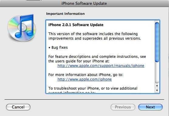 доступна обновленная версия программного обеспечения для iPhone.