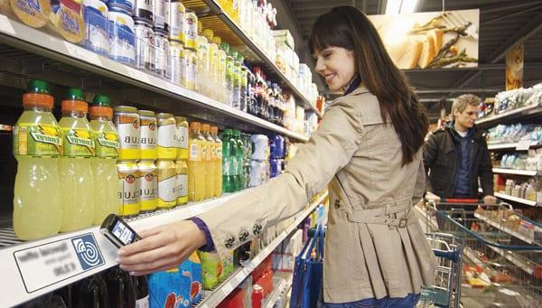 NFC-метки в супермаркете