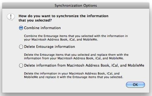 синхронизация iPhone и Entourage