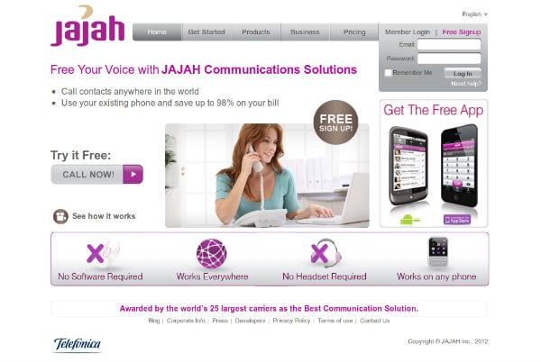 бесплатный аккаунт на Jajah